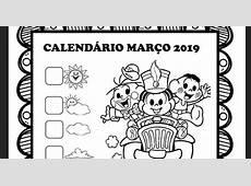 Calendários março 2019 Turma da Mônica