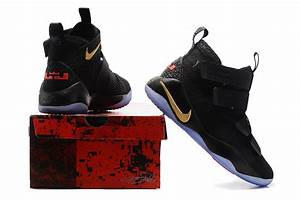 2017 Nike LeBron Soldier 11 Black Gold Finals PE | 2017 ...