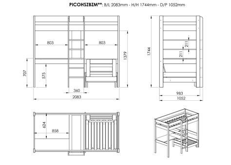 lit mezzanine avec bureau et rangement lit enfant mezzanine avec bureau meubles enfant et b b