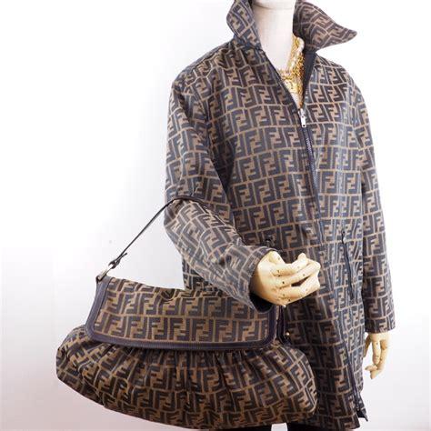 vintage fendi zucca monogram canvas unisex reversible coat jacket nina furfur vintage boutique