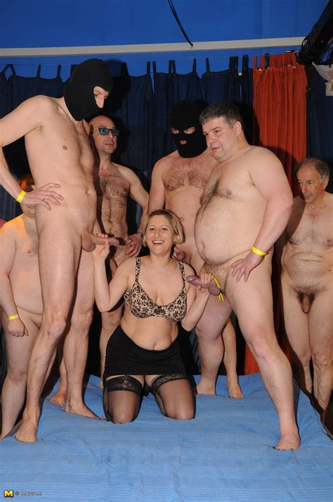 German Mature Gangbang Party Lots Of Dicks And Only Two