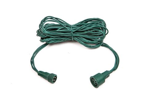 12ft lumenplay 174 light string extension cord green wire