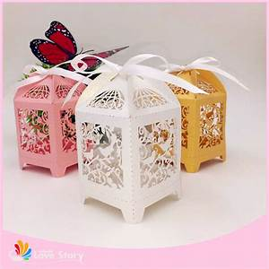 50pcs birdcage wedding favor box party candy box gift box for Favor boxes for wedding