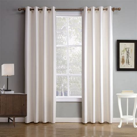 white plain blackout thermal bedroom curtains simple dupioni silk drapes