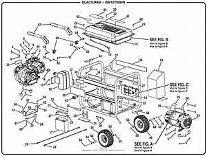 Homelite Bm10700hr 7000 Watt Generator Parts Diagram For