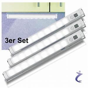 Led Lichtleiste Kabellos : 3x led lichtleiste mit bewegungsmelder einbauleuchte kaltwei batteriebetrieben ebay ~ Orissabook.com Haus und Dekorationen