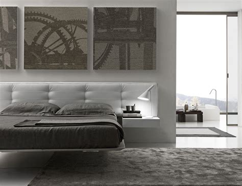 presotto wing suspended bed floating  contemporary