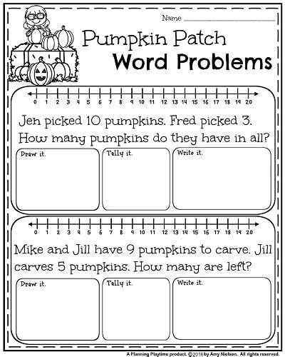 1st grade math worksheet addition word problems october grade worksheets worksheets grade