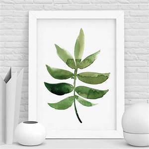 botanical print watercolour leaf by the motivated type