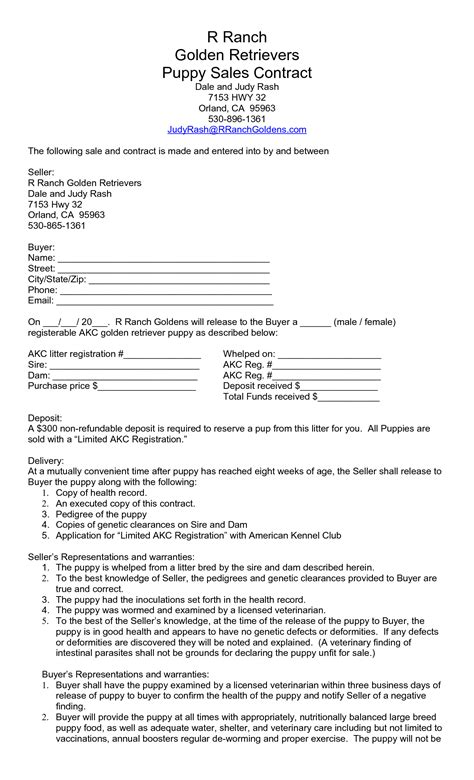 puppy sale contract agreement template category page 13 efoza