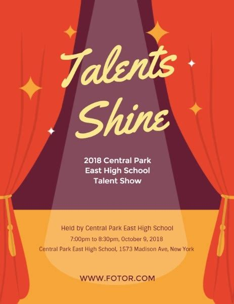 talent show program template fotor design maker