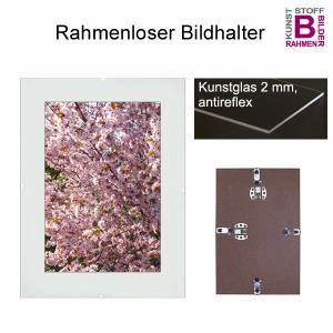 Bilderrahmen 100 X 80 : rahmenloser bildhalter 80x100 100x80 cm mit kunstglas ~ Watch28wear.com Haus und Dekorationen