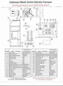 Eb17c Coleman Electric Furnace Parts  U2013 Hvacpartstore