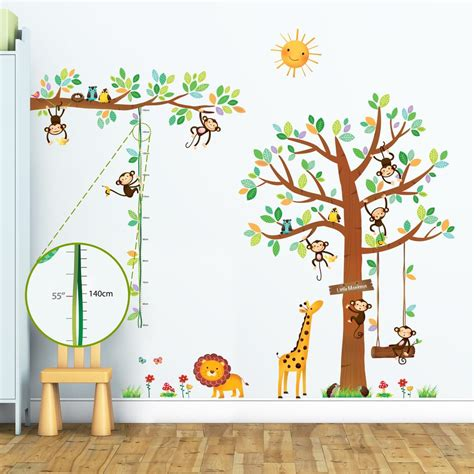 Wandtattoo Kinderzimmer by Decowall Selbstklebend Kinder Wandtattoo Wandsticker Real