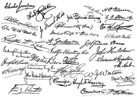 Freesignatureshandwritting  Victorian Signatures  Pinterest  Handwriting, Free Printables
