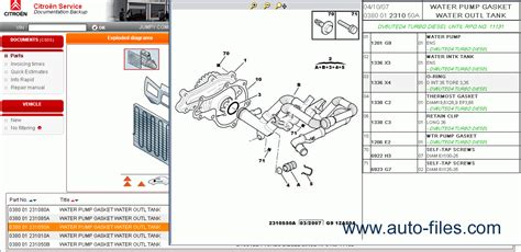citroen parts  repair  spare parts catalogs