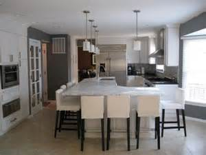 kitchen island with cabinets and seating simcoe white grey kitchens