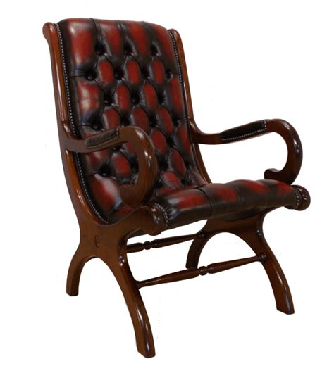 chesterfield york slipper office chair antique oxblood