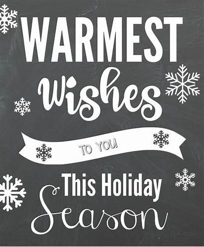 Wishes Warmest Gift Neighbor Printable Christmas Idea