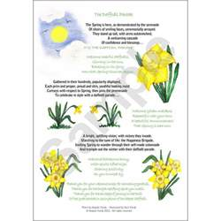 angelas poems shop the daffodil parade a4 printed poster
