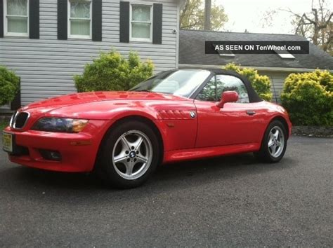 bmw  red manual  speed   roadster convertible