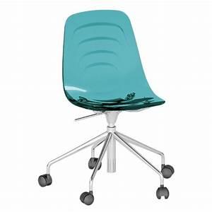 Chaise à Roulettes : coupe 7g chaise a roulettes softline roulettes turquoise softline ~ Melissatoandfro.com Idées de Décoration