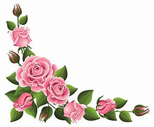 Corner Decoration with Roses PNG Clipart Picture | rose ...