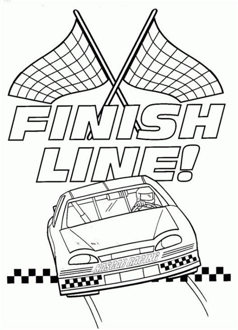 Race Car Coloring Page Printable