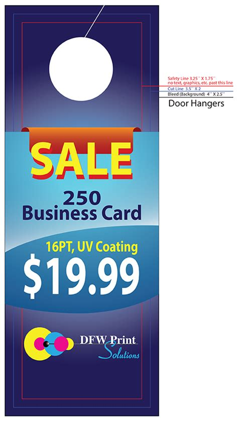 door hanger printing door hanger printing service company print shop in fort