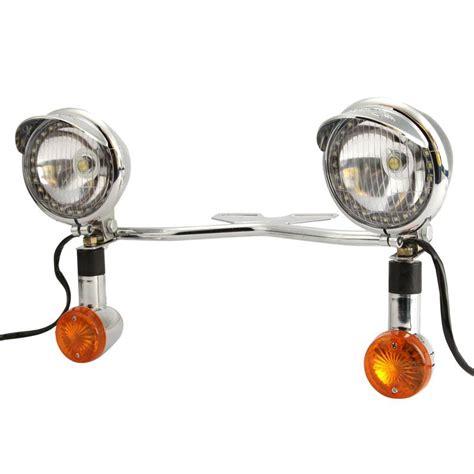custom led turn signal lights for motorcycles universal custom motorcycle headlight spot fog light bar