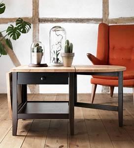 Table à Rabat Ikea : table d 39 appoint avec rabat gauche abaiss et fauteuil en arri re plan minimalisme pinterest ~ Teatrodelosmanantiales.com Idées de Décoration