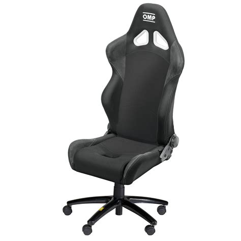 omp style racing office chair seat in black height