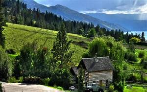 Hd, Old, Farm, On, A, Side, Of, A, Mountain, Hdr, Wallpaper