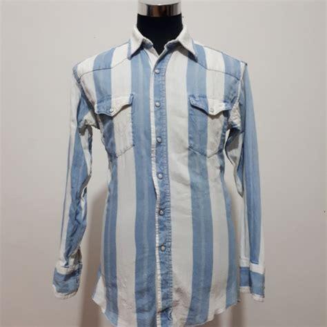 vintage 80s kemeja wrangler fesyen lelaki pakaian di carousell