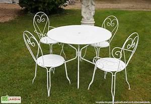 Chaise De Jardin Metal : table de jardin ronde metal table et chaise de jardin en ~ Dailycaller-alerts.com Idées de Décoration