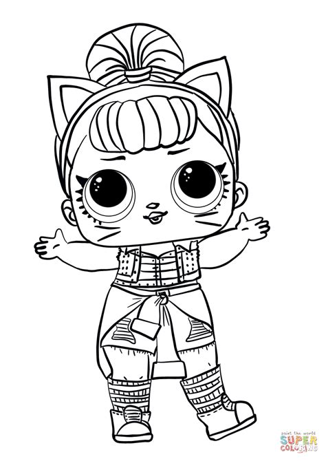 lol surprise doll troublemaker coloring page