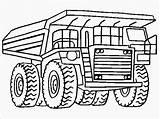 Coloring Dump Truck Printable Landfill Pickup Plow Snow Realistic Drawing Template Getcolorings Printables Titan sketch template