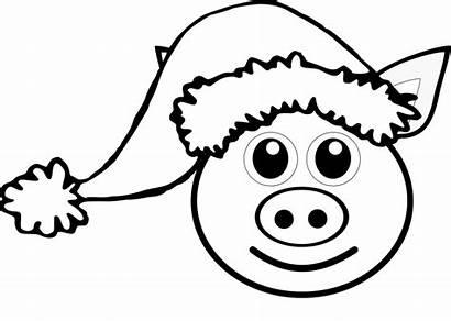 Pig Clip Face Cartoon Pink Clipart Clipartion