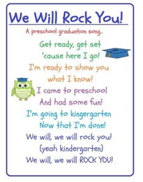 preschool graduation songs for slideshow i m a graduate poem would be so on the front 870