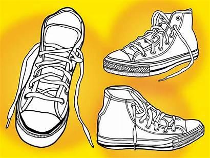 Shoes Converse Clipart Basketball Vector Vectors Shoe