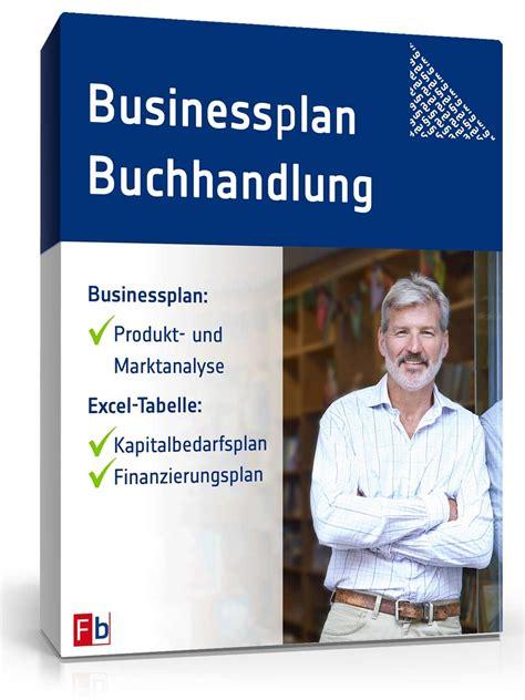 businessplan buchhandlung muster zum