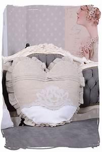 Shabby Chic Kissen : sofakissen shabby chic herz kissen landhausstil leinenkissen couchkissen vintage ebay ~ Buech-reservation.com Haus und Dekorationen