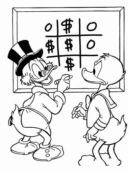 Duck Donald Coloring Ducktales Scrooge Uncle Dagobert