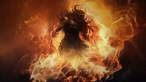 Fire Demons Horns Fantasy Art Barbarian Artwork Diablo Iii