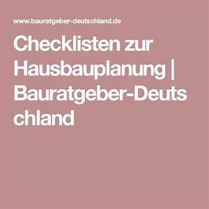Hausbau Was Beachten : checkliste hausbau hausbau beachten hausbauplanung ~ A.2002-acura-tl-radio.info Haus und Dekorationen