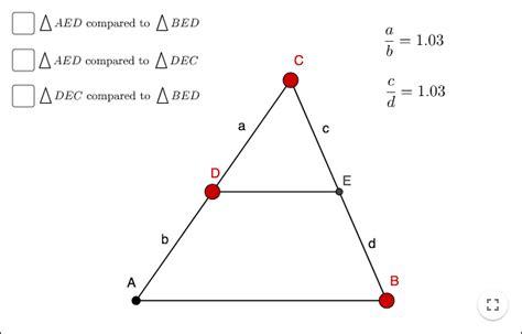 geometry similar triangles