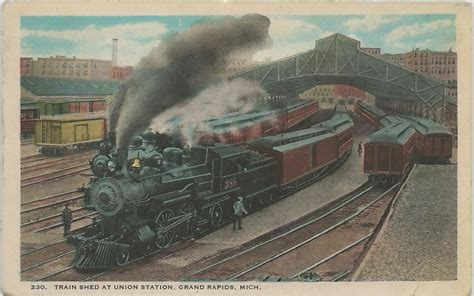 sw grand rapids mi circa 1912 union station rr depot and t
