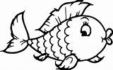Goldfish Coloring Pages Cute Printable Getcolorings Special sketch template