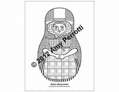 Welsh Traditional Coloring Sheets Sheet Colouring Printable