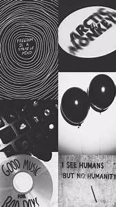 black, grunge, tumblr, wallpaper, white - image #3440965 ...